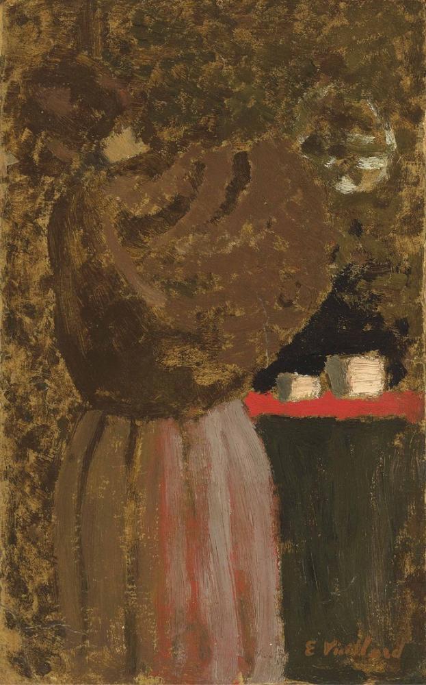 Edouard Vuillard, La Femme au Chale, Figure, Édouard Vuillard, kanvas tablo, canvas print sales