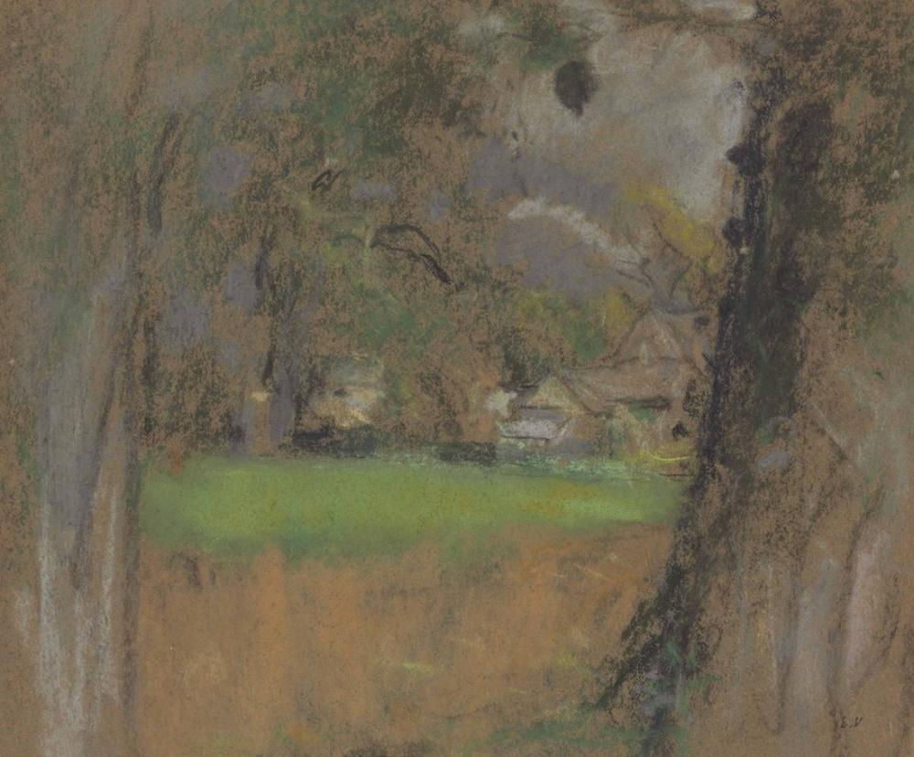 Edouard Vuillard, Gövdeler Arasında Çiftlik Evi Görünümü, Kanvas Tablo, Édouard Vuillard, kanvas tablo, canvas print sales