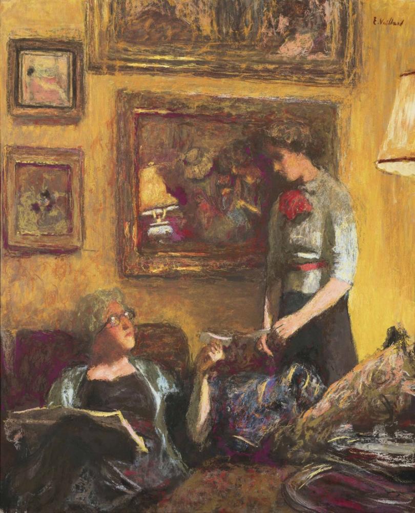 Edouard Vuillard, Lucy Hessel ve Lulu Napoli Caddesi Telgraf Dedi, Kanvas Tablo, Édouard Vuillard, kanvas tablo, canvas print sales