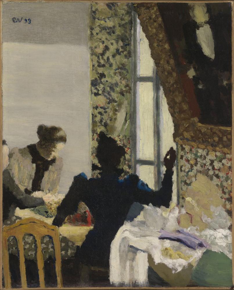 Edouard Vuillard, L'aiguillée the Thread, Figure, Édouard Vuillard, kanvas tablo, canvas print sales