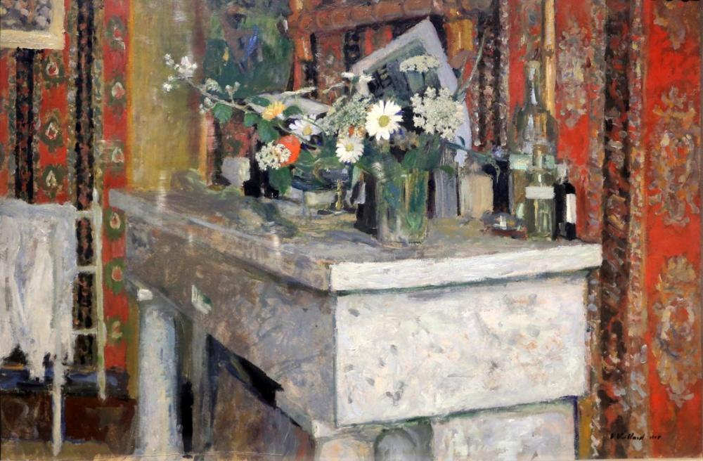 Edouard Vuillard, La Mensola del Camino, Kanvas Tablo, Édouard Vuillard, kanvas tablo, canvas print sales