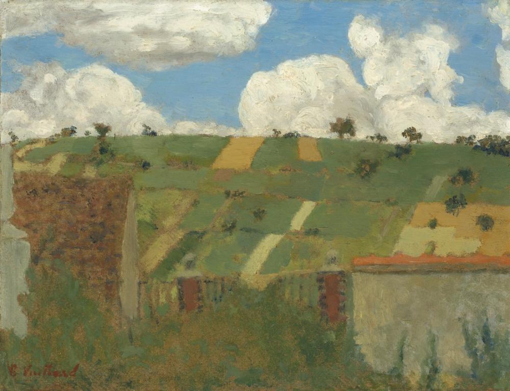 Edouard Vuillard, Landscape of the Ile de France, Canvas, Édouard Vuillard, kanvas tablo, canvas print sales