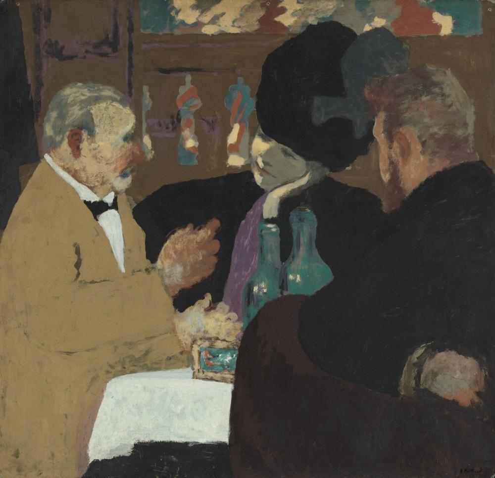 Edouard Vuillard, Eğlenceli Parti, Kanvas Tablo, Édouard Vuillard, kanvas tablo, canvas print sales