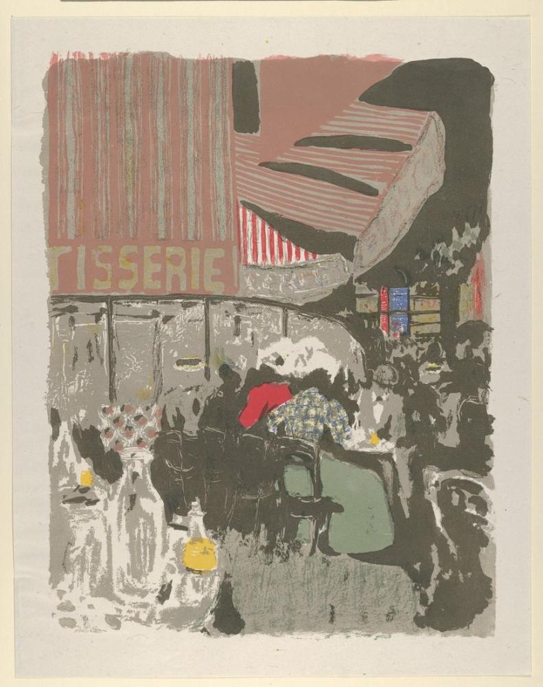 Edouard Vuillard, La Pâtisserie from the album Paysages et Intérieurs, Figür, Édouard Vuillard, kanvas tablo, canvas print sales