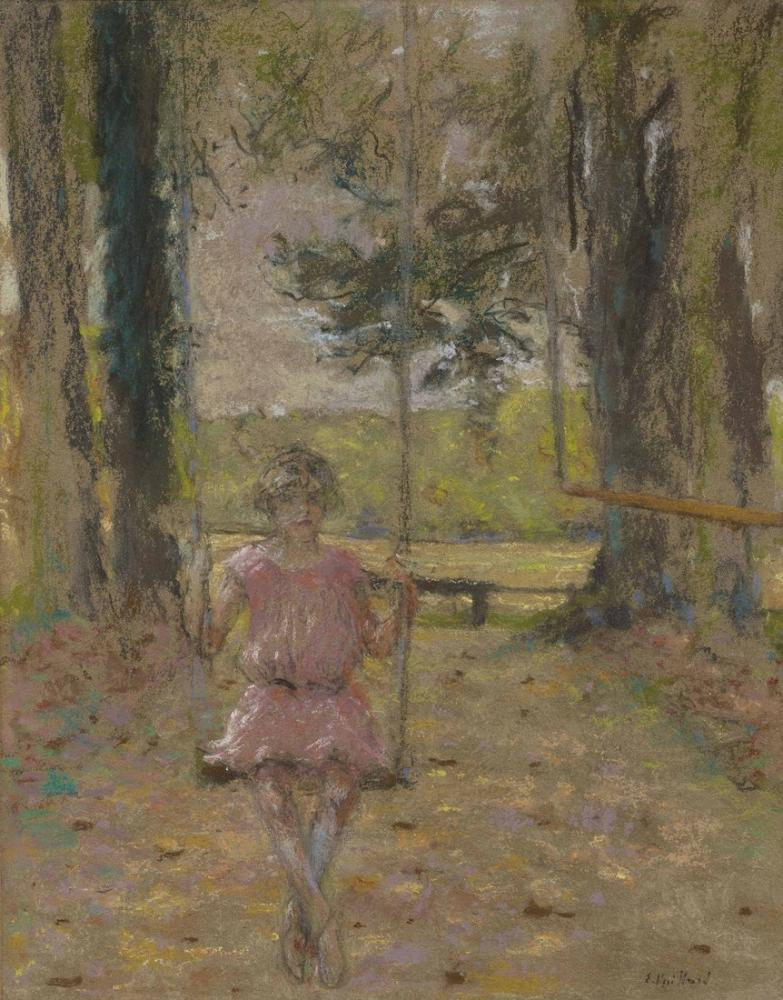 Edouard Vuillard, Parkta Salıncakta Bir Lulu, Kanvas Tablo, Édouard Vuillard, kanvas tablo, canvas print sales
