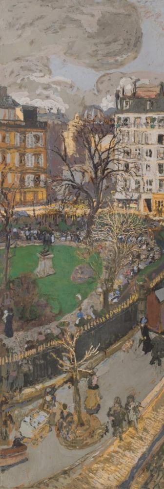 Edouard Vuillard, Vintimille Meydanı Vintimille Caddesi, Kanvas Tablo, Édouard Vuillard, kanvas tablo, canvas print sales