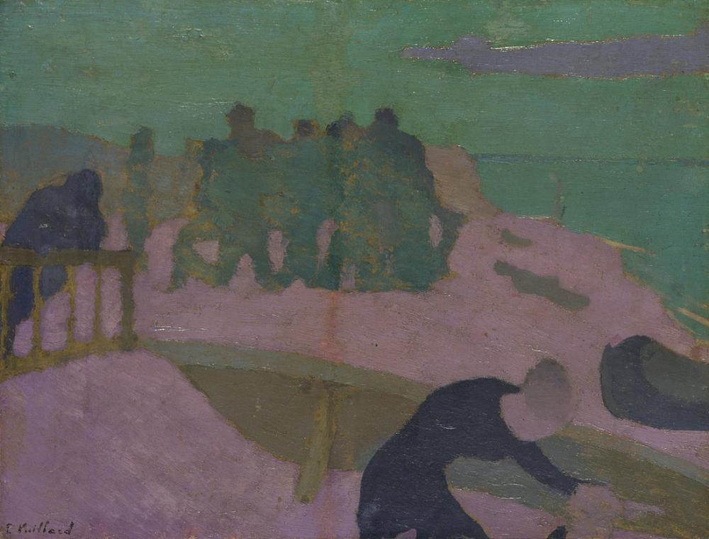 Edouard Vuillard, La Plage Violette, Figure, Édouard Vuillard, kanvas tablo, canvas print sales