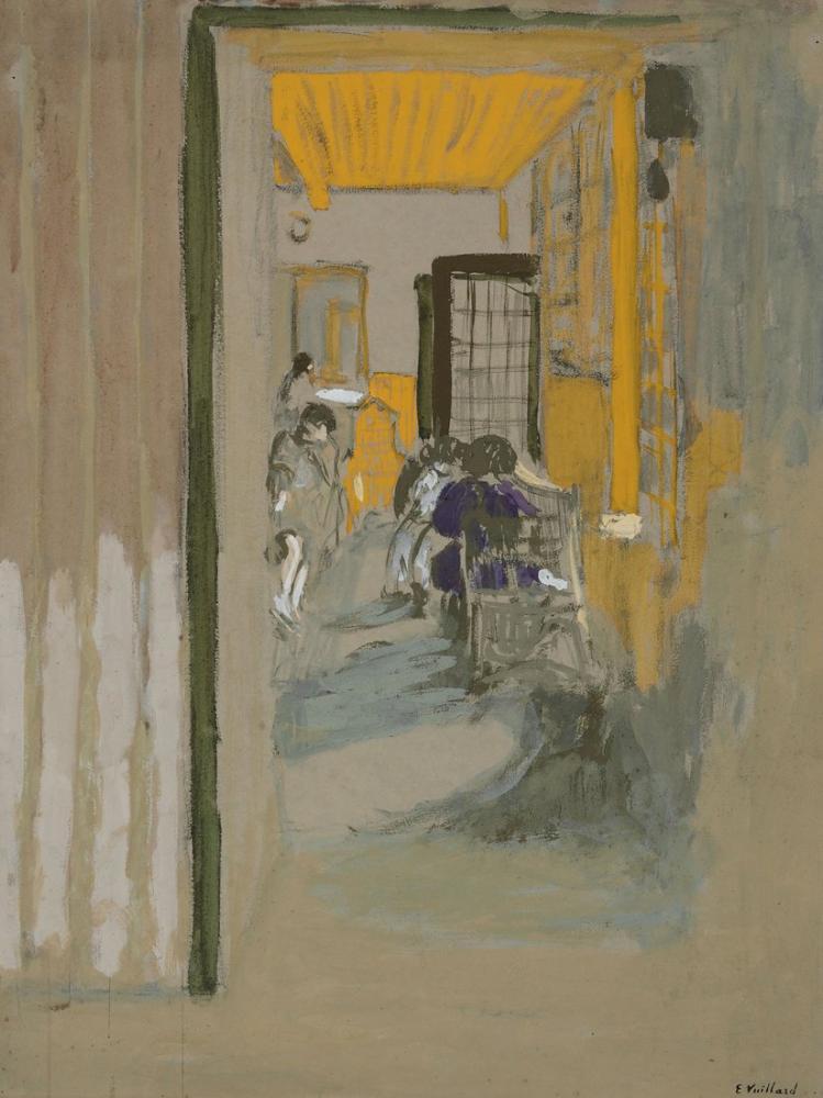 Edouard Vuillard, La Salle Detude aux Pavillons, Canvas, Édouard Vuillard, kanvas tablo, canvas print sales