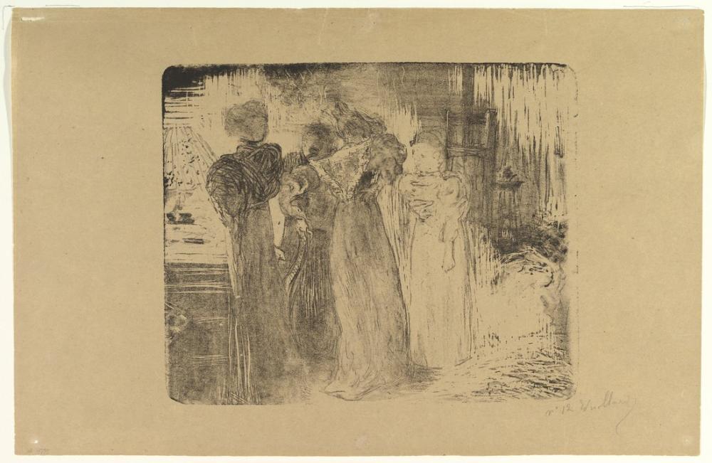 Edouard Vuillard, L Atelier, Figure, Édouard Vuillard, kanvas tablo, canvas print sales