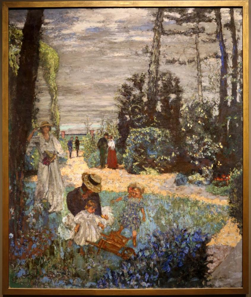 Edouard Vuillard, Vazouy Terasından Sonra Bahçeye, Kanvas Tablo, Édouard Vuillard, kanvas tablo, canvas print sales