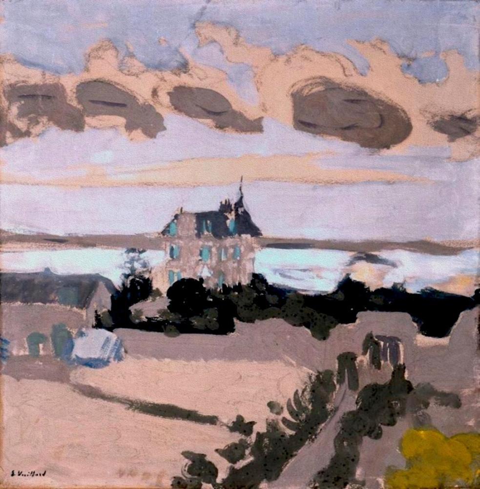 Edouard Vuillard, La Villa Les Écluses St. Jacut Brittany, Kanvas Tablo, Édouard Vuillard, kanvas tablo, canvas print sales