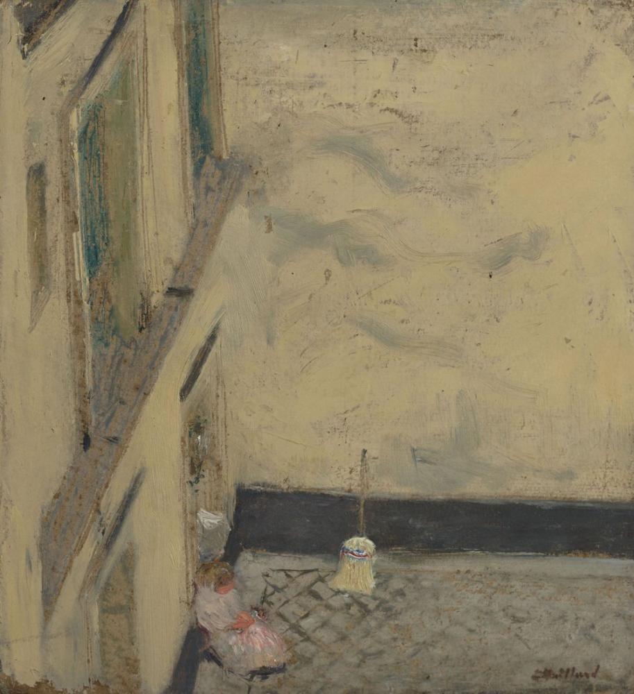 Edouard Vuillard, Le Balai dans la cour, Canvas, Édouard Vuillard, kanvas tablo, canvas print sales