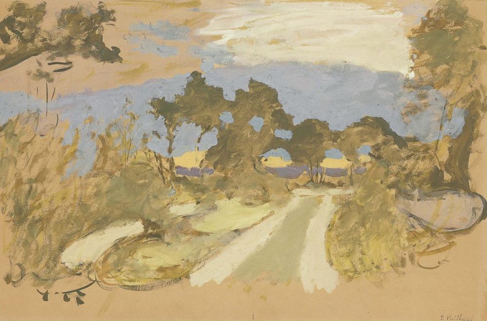 Edouard Vuillard, Le Chemin a la Campagne en Bretonne, Canvas, Édouard Vuillard, kanvas tablo, canvas print sales
