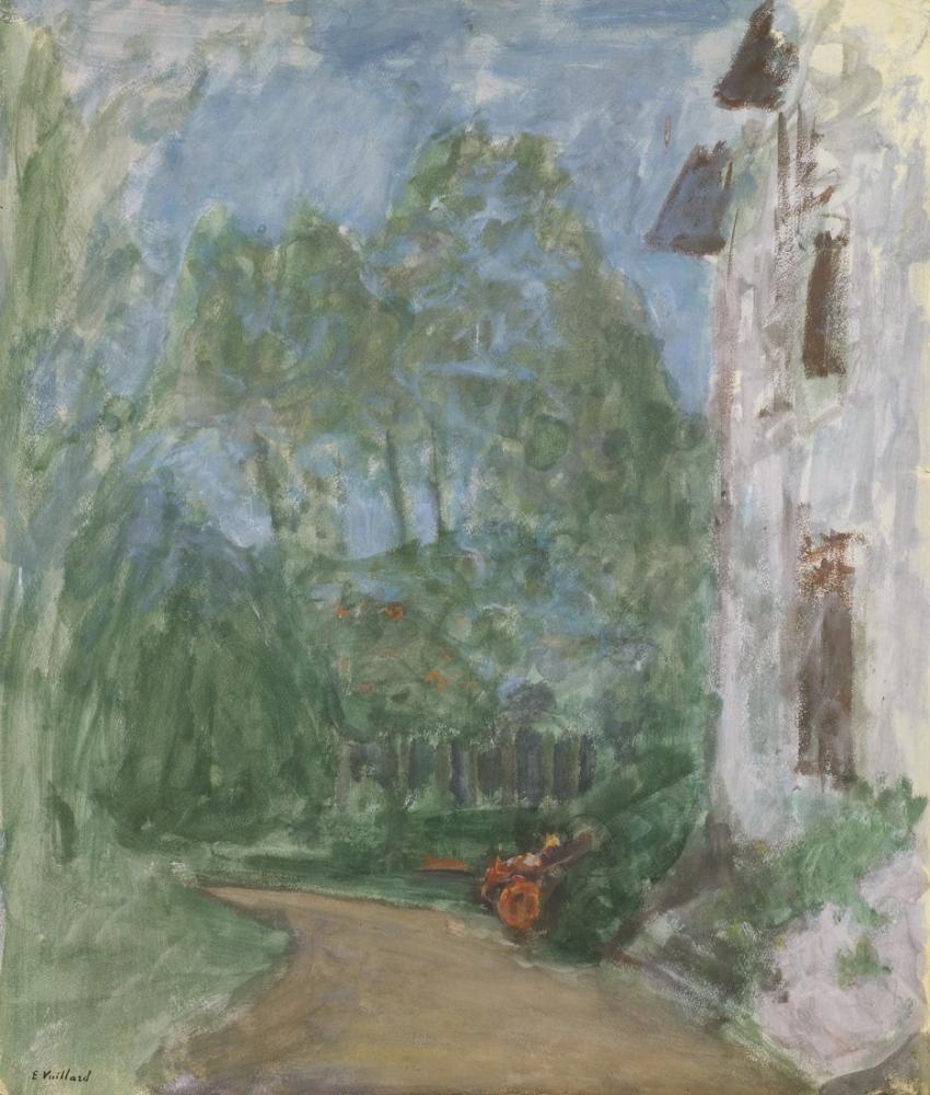 Edouard Vuillard, Le Chemin devant la maison, Figure, Édouard Vuillard, kanvas tablo, canvas print sales