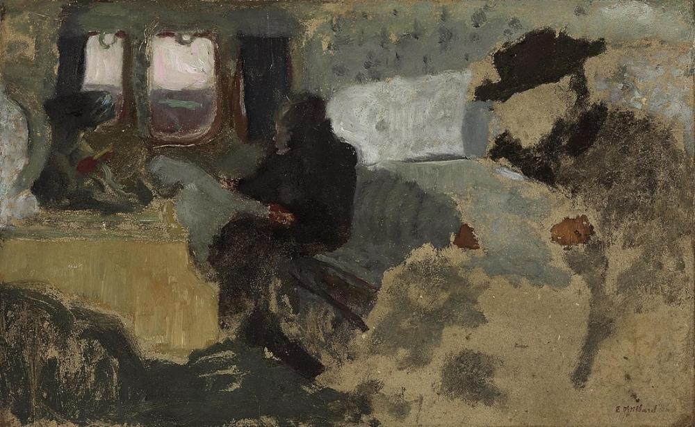 Edouard Vuillard, Le Compartiment de première classe, Figure, Édouard Vuillard, kanvas tablo, canvas print sales