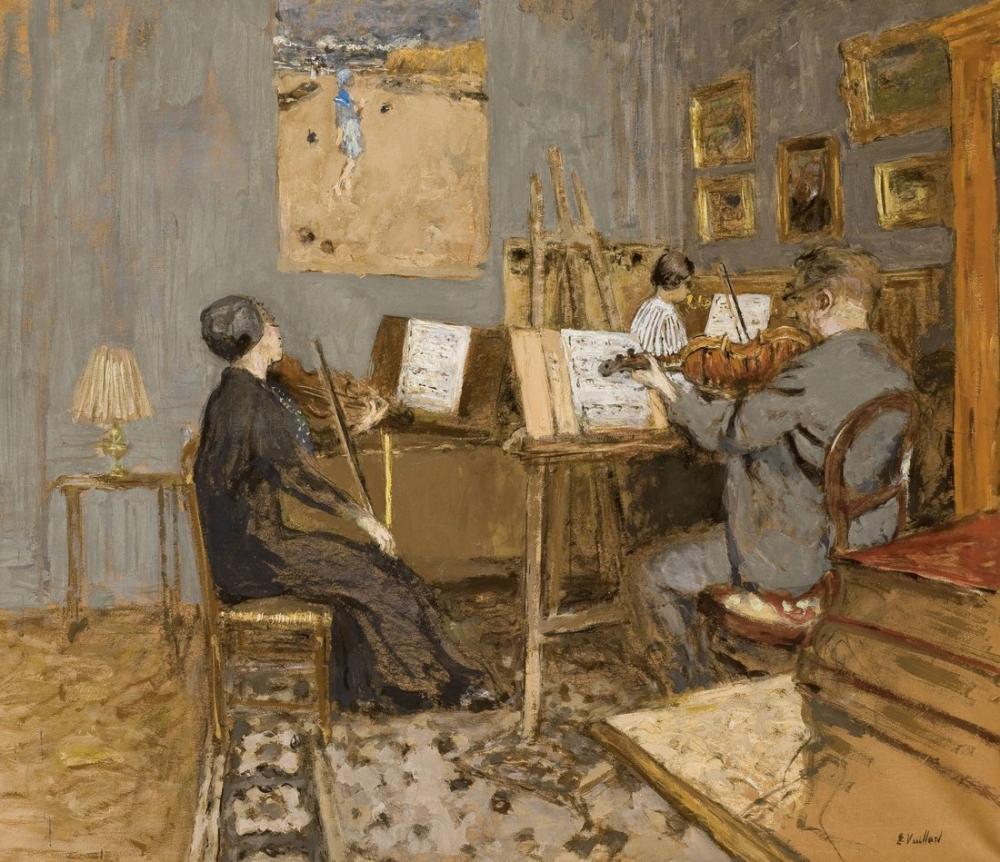 Edouard Vuillard, Le Concert Matinal Place Vintimille, Canvas, Édouard Vuillard, kanvas tablo, canvas print sales