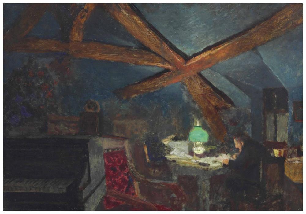Edouard Vuillard, Le Grenier de La Grangette a Valvins, Canvas, Édouard Vuillard, kanvas tablo, canvas print sales