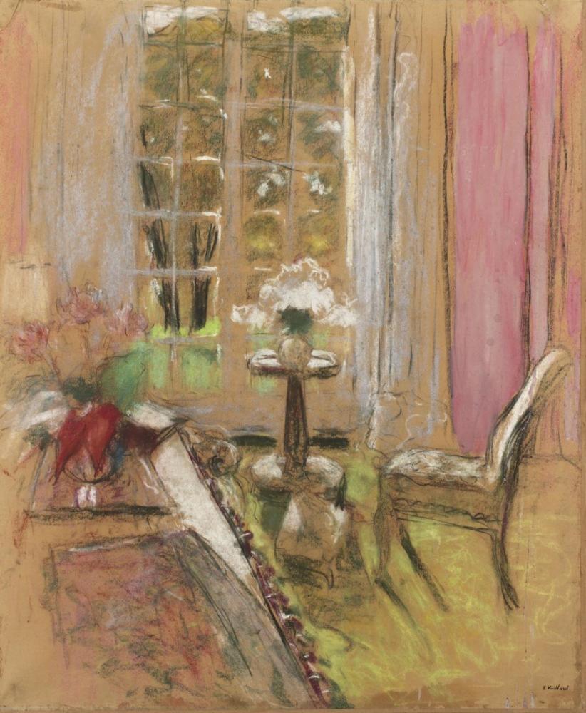 Edouard Vuillard, Le Gueridon, Canvas, Édouard Vuillard, kanvas tablo, canvas print sales