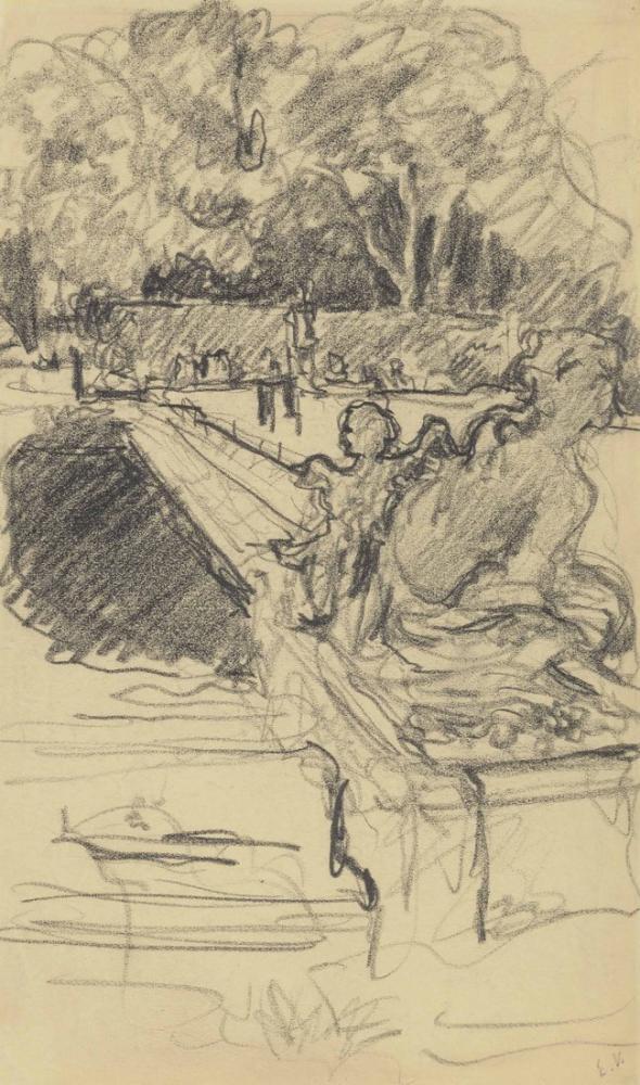 Edouard Vuillard, Versailles Kalesinin Su Yatağı, Figür, Édouard Vuillard, kanvas tablo, canvas print sales