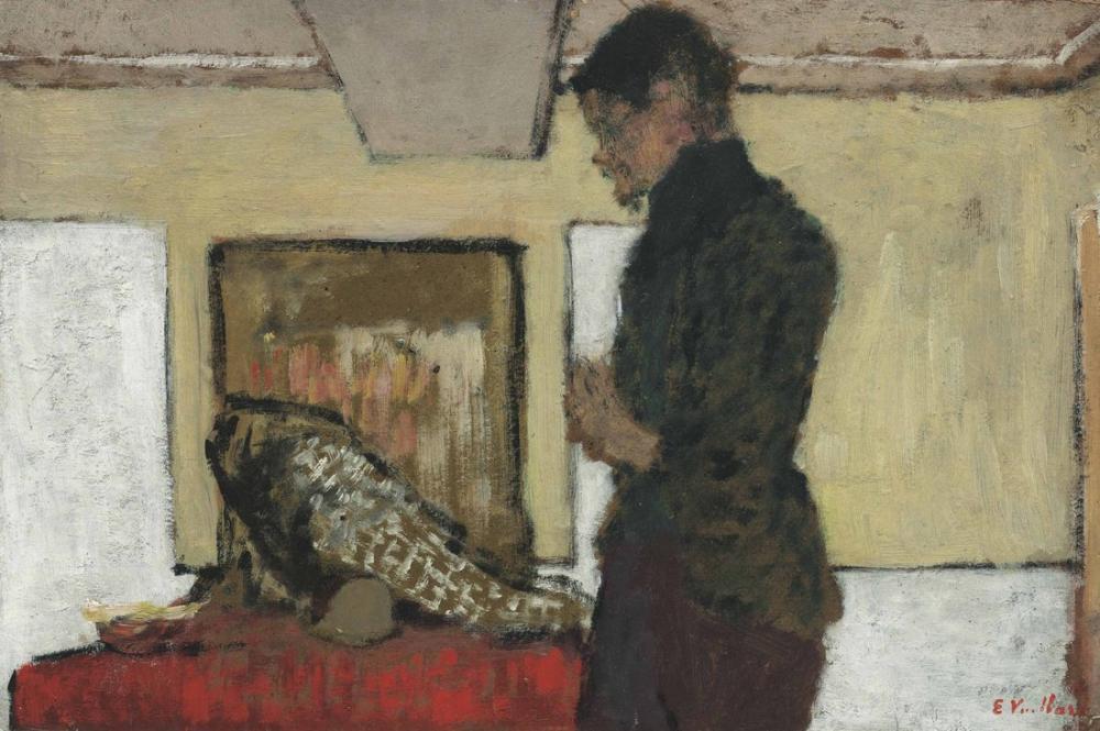 Edouard Vuillard, Le peintre Maximilien Luce dans son Atelier, Figure, Édouard Vuillard, kanvas tablo, canvas print sales