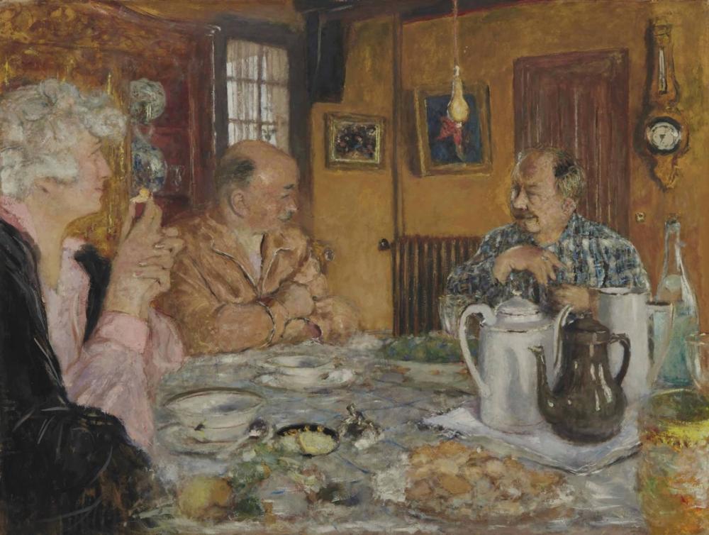 Edouard Vuillard, Leveque Köprüsü Kahvaltı, Kanvas Tablo, Édouard Vuillard, kanvas tablo, canvas print sales