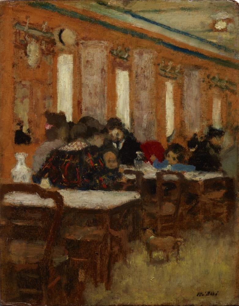 Edouard Vuillard, Le Petit Restaurant, Canvas, Édouard Vuillard, kanvas tablo, canvas print sales