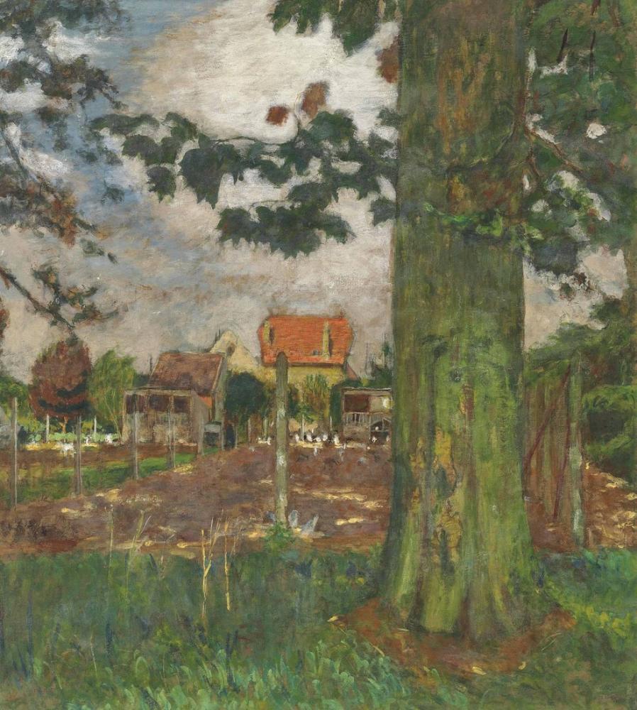 Edouard Vuillard, Le Poulailler du Chateau des Clayes, Canvas, Édouard Vuillard, kanvas tablo, canvas print sales