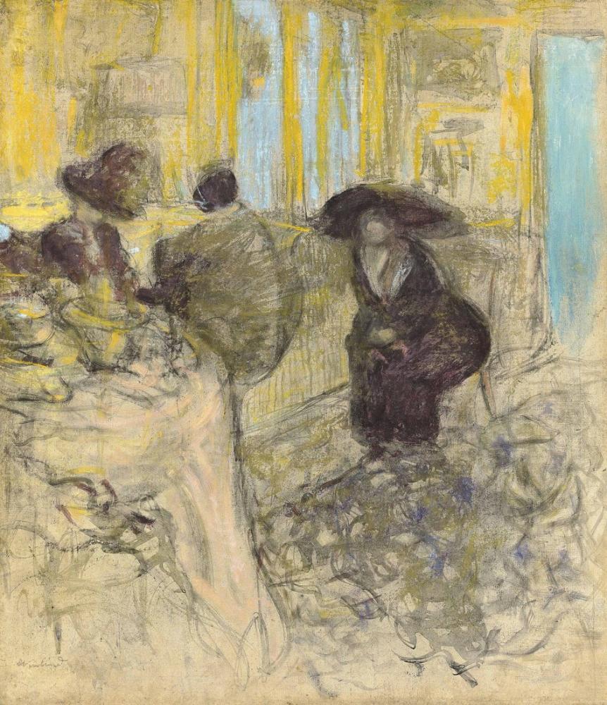 Edouard Vuillard, Salon Chez Marcelle Aron, Figür, Édouard Vuillard, kanvas tablo, canvas print sales