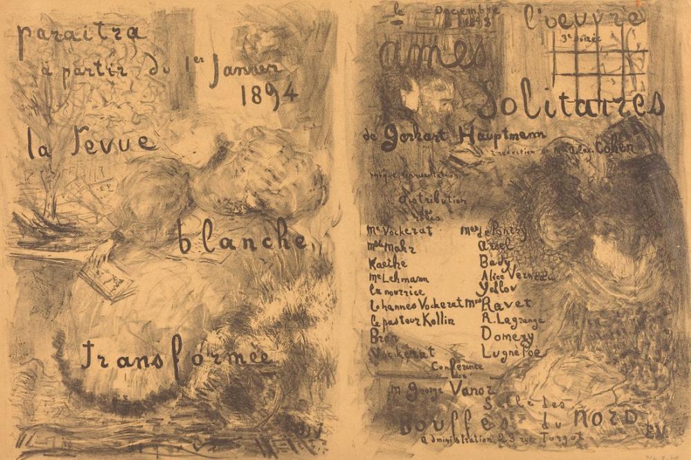 Edouard Vuillard, Yalnız Ruhlar, Figür, Édouard Vuillard, kanvas tablo, canvas print sales