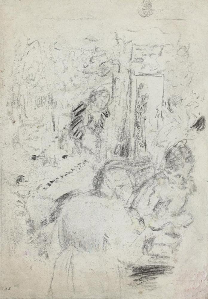 Edouard Vuillard, Les Couturieres and Femmes et enfant au Canape, Canvas, Édouard Vuillard, kanvas tablo, canvas print sales
