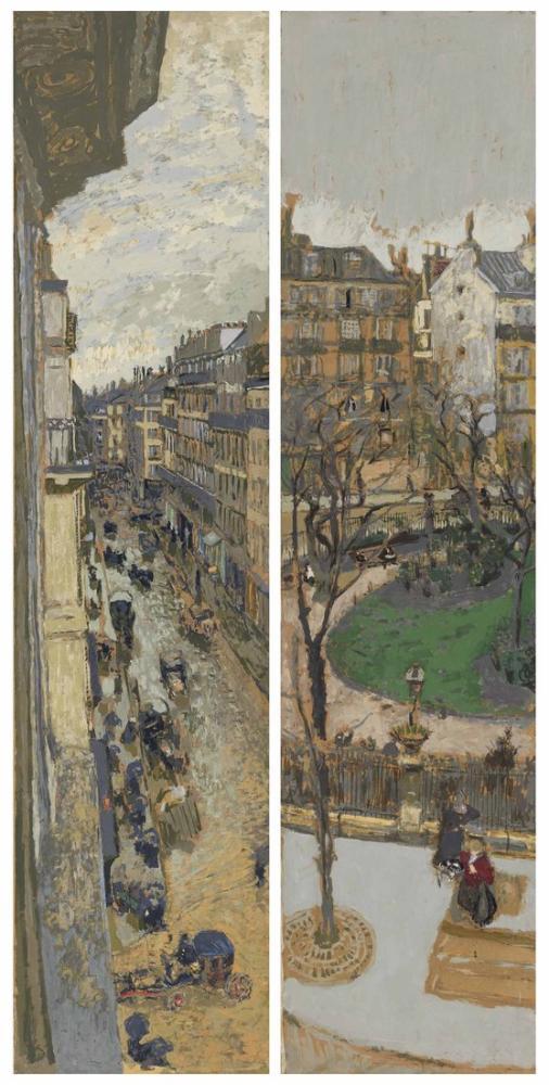Edouard Vuillard, Paris Sokaklarında Henry Bernstein Second Serisi Ventimiglia Meydanı, Kanvas Tablo, Édouard Vuillard, kanvas tablo, canvas print sales