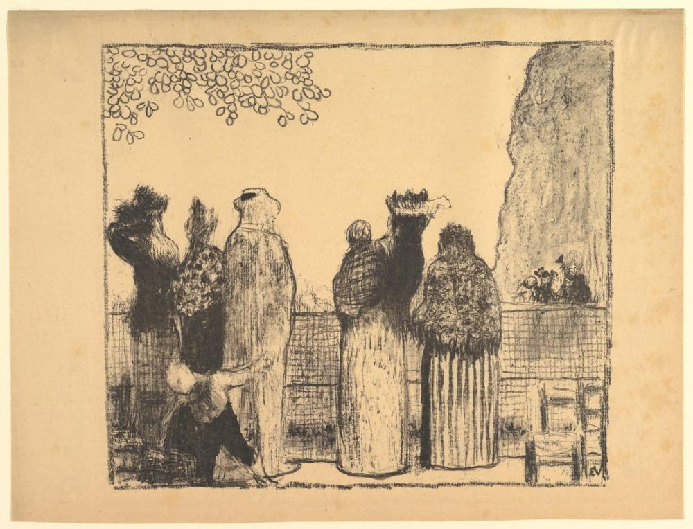 Edouard Vuillard, Les Tuileries, Figür, Édouard Vuillard, kanvas tablo, canvas print sales