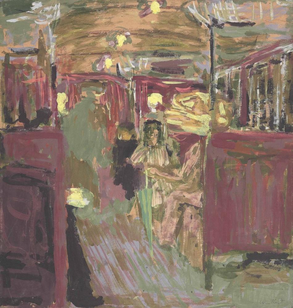 Edouard Vuillard, Metro Vagonu, Figür, Édouard Vuillard, kanvas tablo, canvas print sales