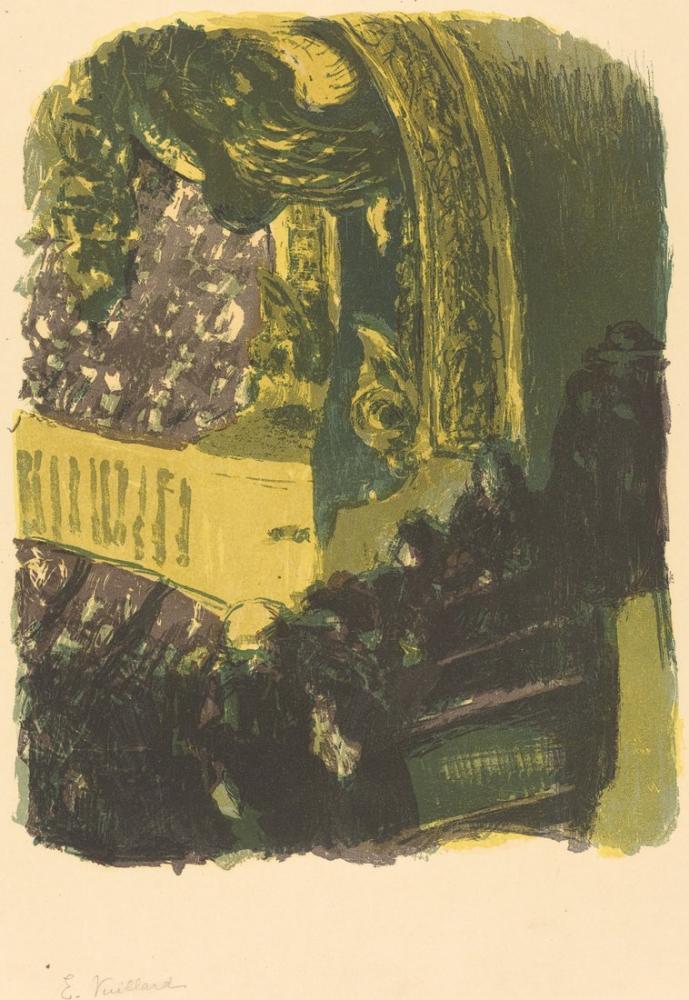 Edouard Vuillard, Spor Salonunda Bir Galeri, Figür, Édouard Vuillard, kanvas tablo, canvas print sales