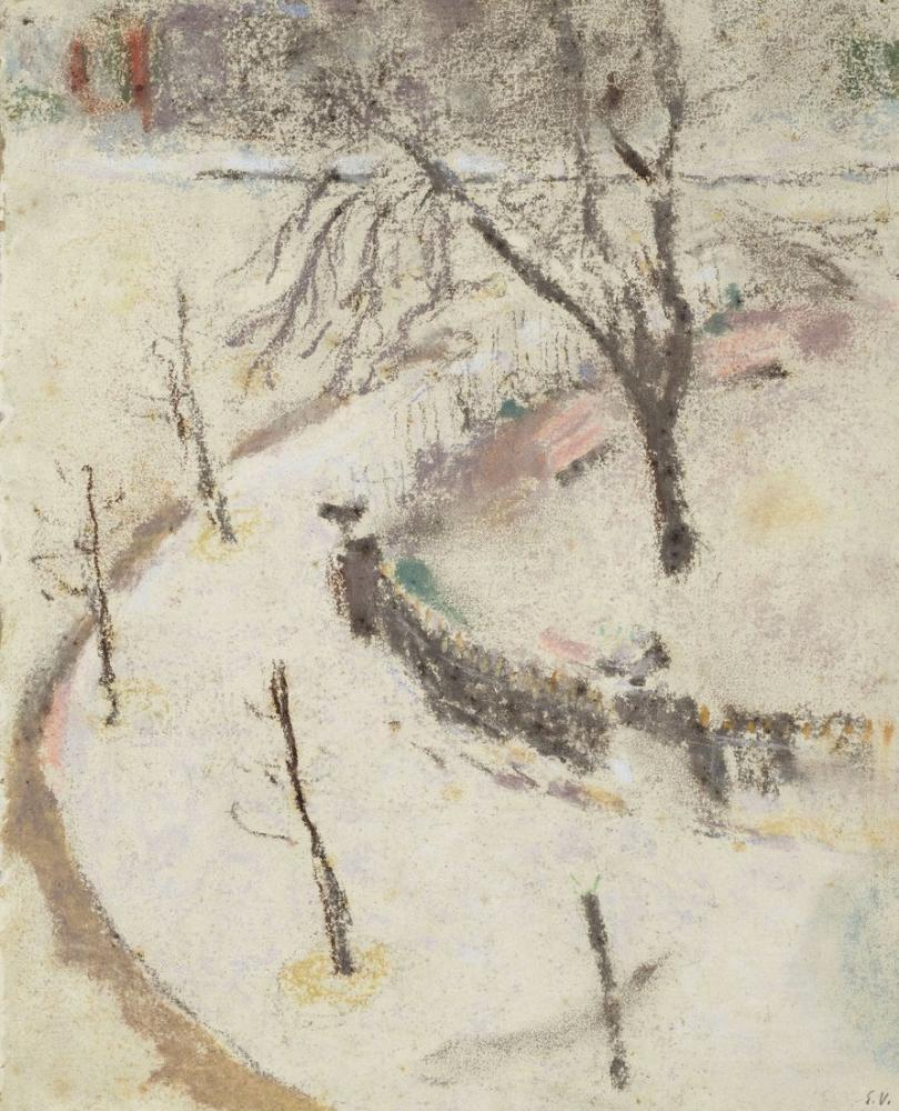 Edouard Vuillard, Berlioz Meydanı nda kış, Kanvas Tablo, Édouard Vuillard, kanvas tablo, canvas print sales