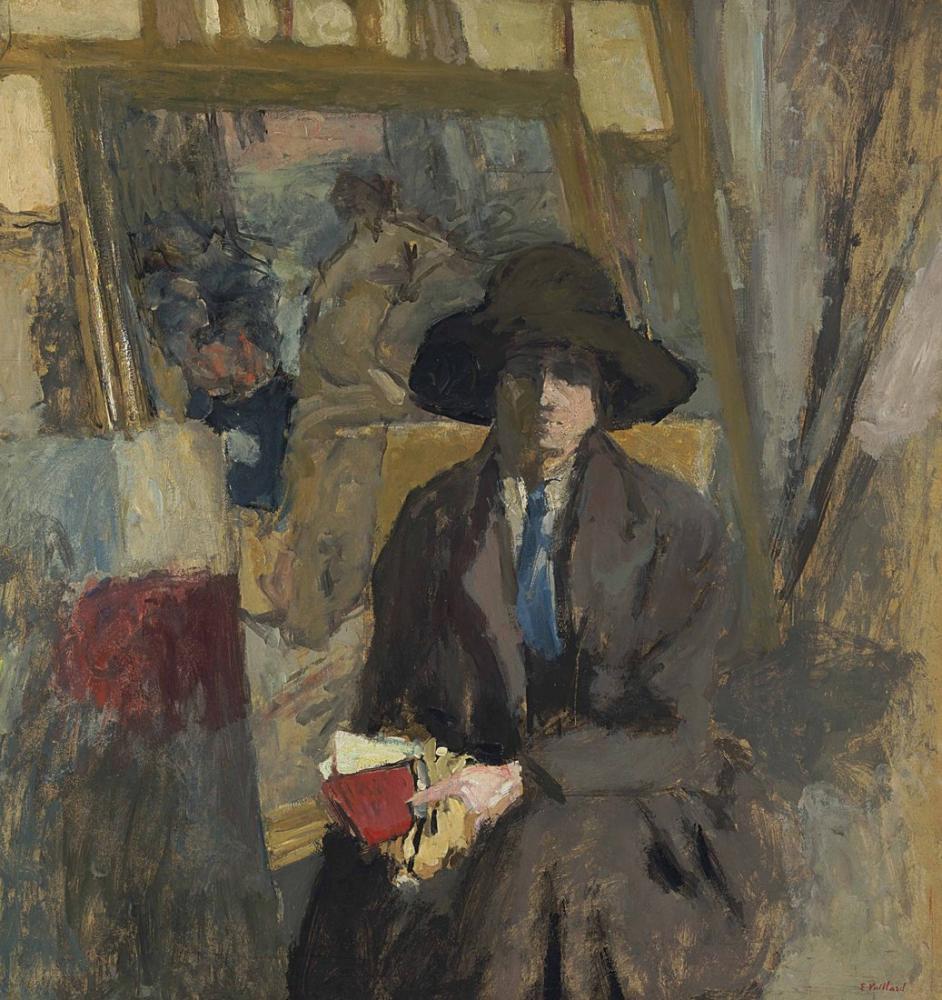 Edouard Vuillard, Siyah Takım Elbise ve Yeşil Kravat Lili Lamy, Figür, Édouard Vuillard, kanvas tablo, canvas print sales
