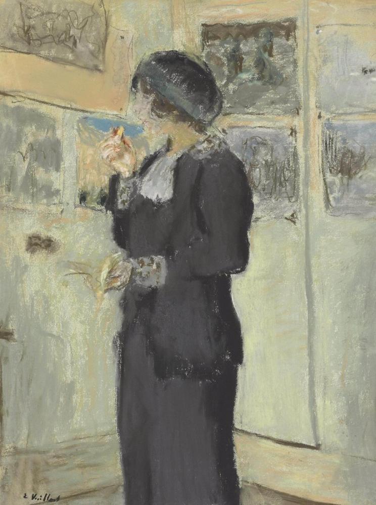 Edouard Vuillard, Lucie Belin au Biscuit, Canvas, Édouard Vuillard, kanvas tablo, canvas print sales
