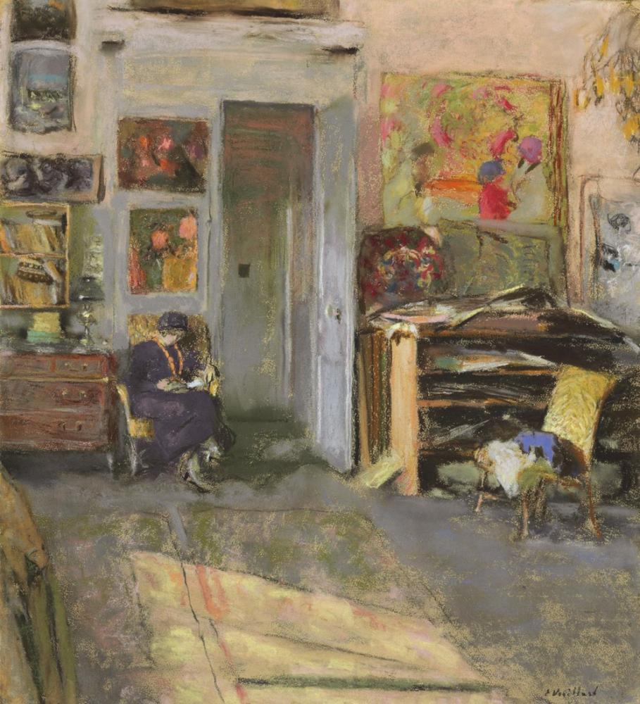 Edouard Vuillard, Lucie Belin dans L Atelier, Figure, Édouard Vuillard, kanvas tablo, canvas print sales