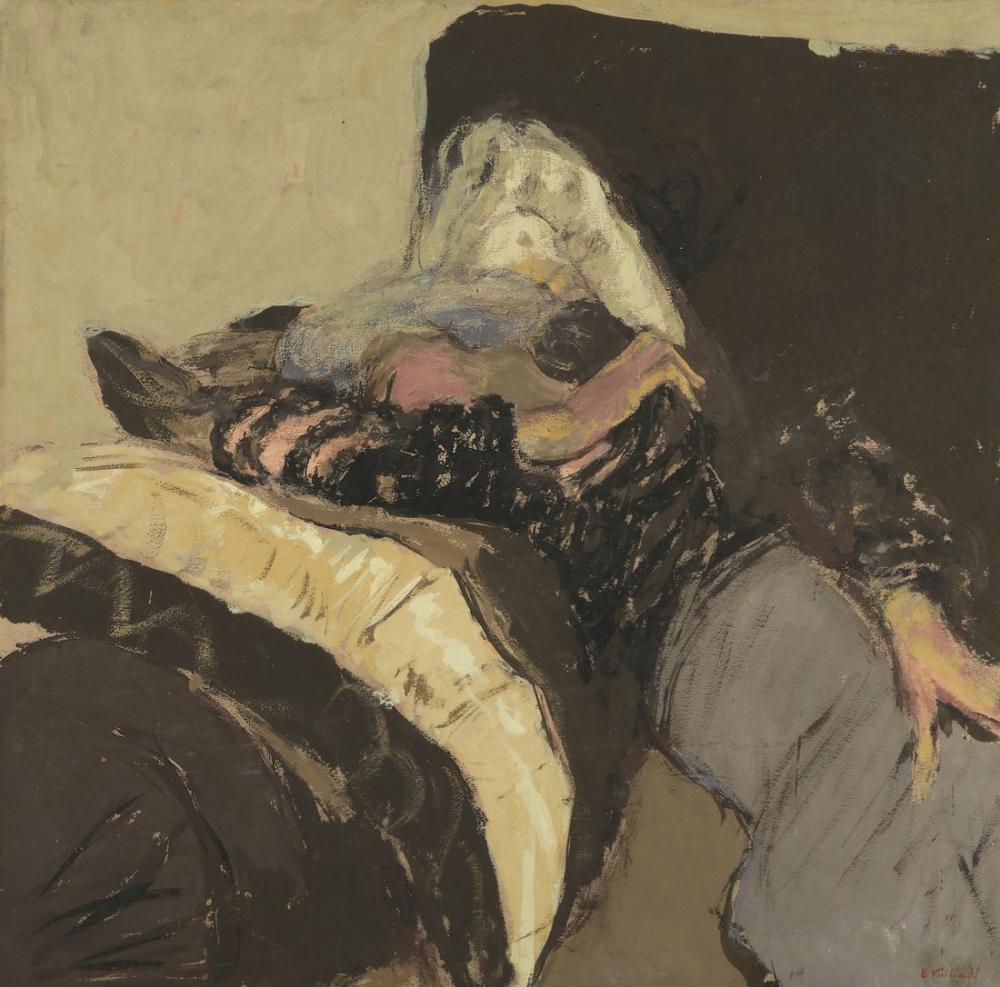 Edouard Vuillard, Lucy Hessel Dormant Sur un Divan, Figure, Édouard Vuillard, kanvas tablo, canvas print sales