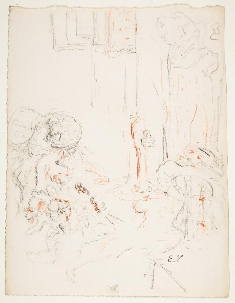 Edouard Vuillard, Lucy Hessel in the Bedroom Le Boudoir, Figure, Édouard Vuillard, kanvas tablo, canvas print sales