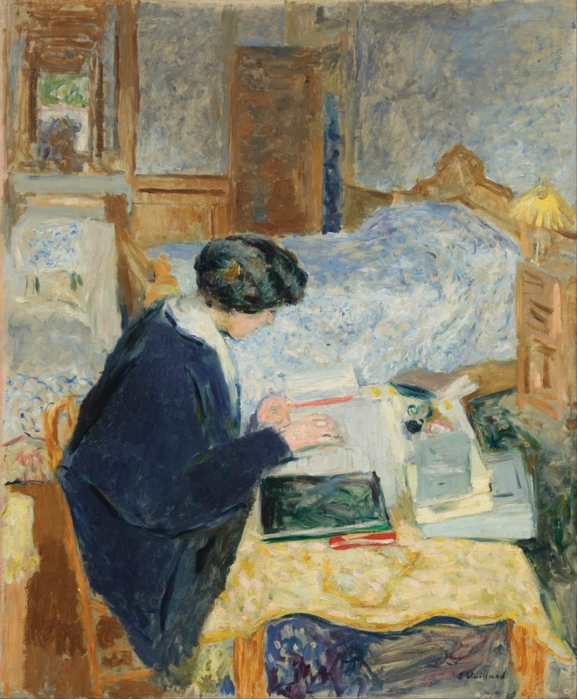 Edouard Vuillard, Lucy Hessel Okuma, Kanvas Tablo, Édouard Vuillard, kanvas tablo, canvas print sales