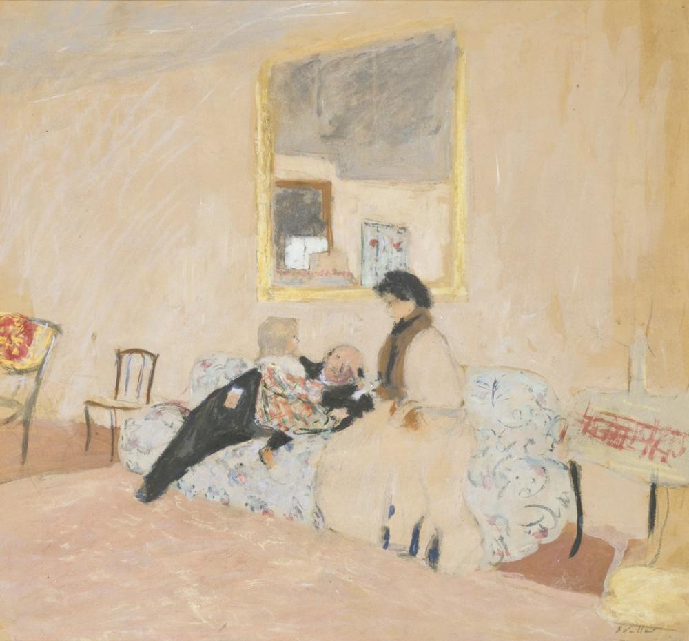 Edouard Vuillard, Annette ve Ziyaretçiler, Kanvas Tablo, Édouard Vuillard, kanvas tablo, canvas print sales
