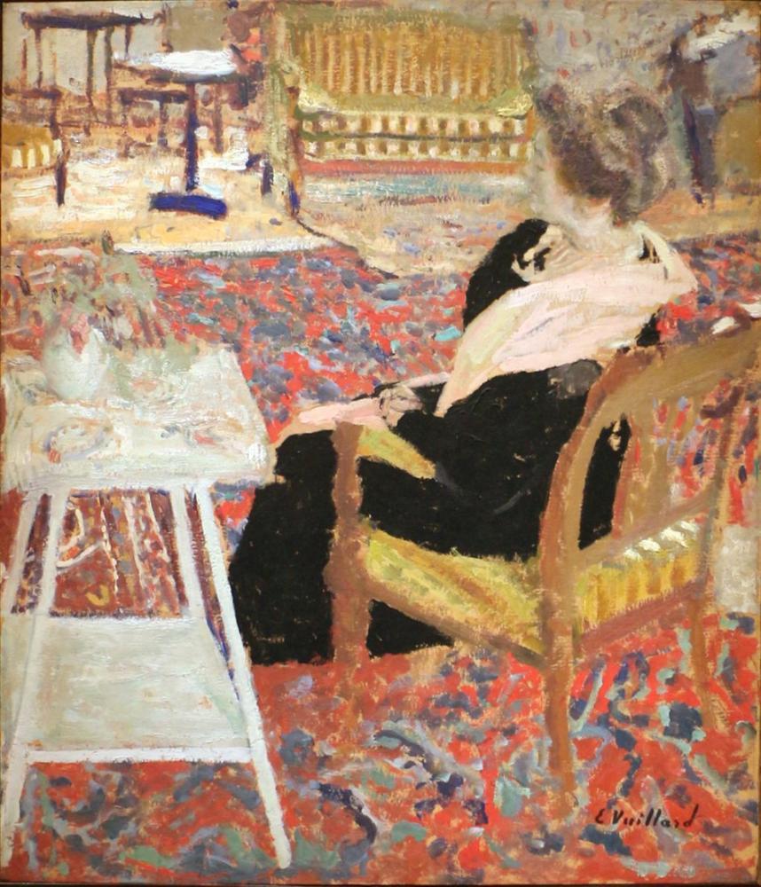 Edouard Vuillard, Madame Arthur Fontaine in uno Scialle Rosa, Canvas, Édouard Vuillard, kanvas tablo, canvas print sales
