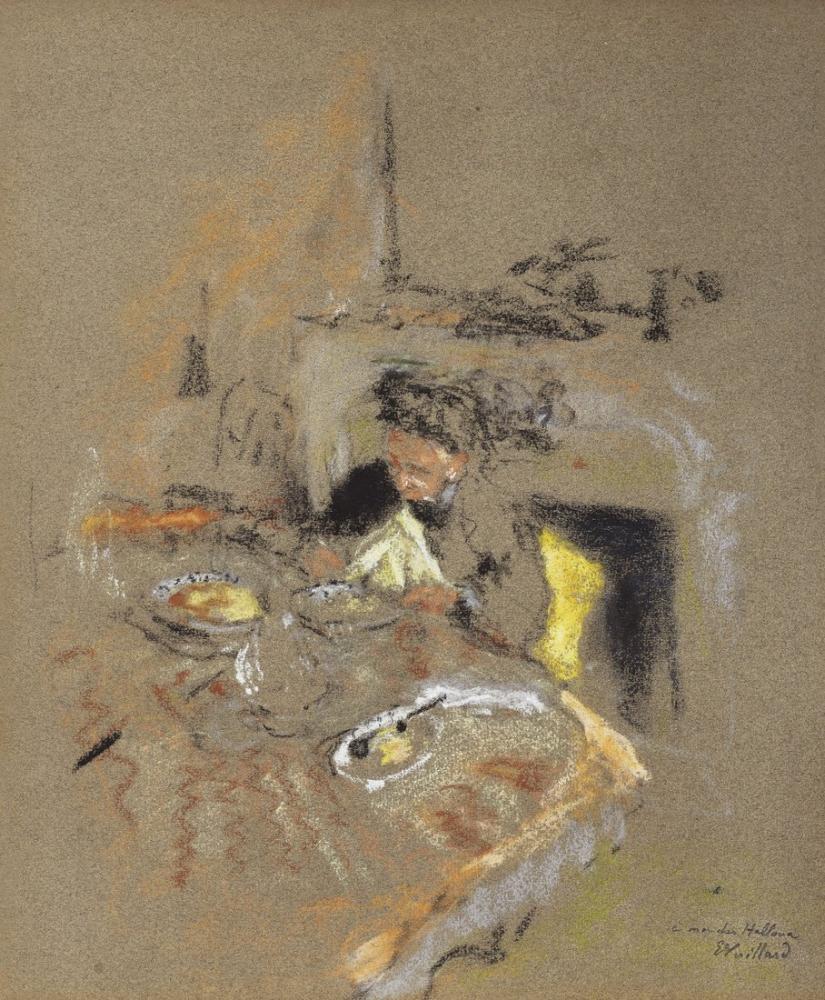 Edouard Vuillard, Madame A Table Place Vintimille, Figure, Édouard Vuillard, kanvas tablo, canvas print sales