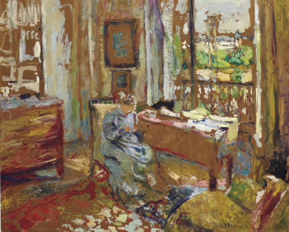 Edouard Vuillard, Madam Cousant Kulenin Caddesi Lechafauda, Figür, Édouard Vuillard, kanvas tablo, canvas print sales