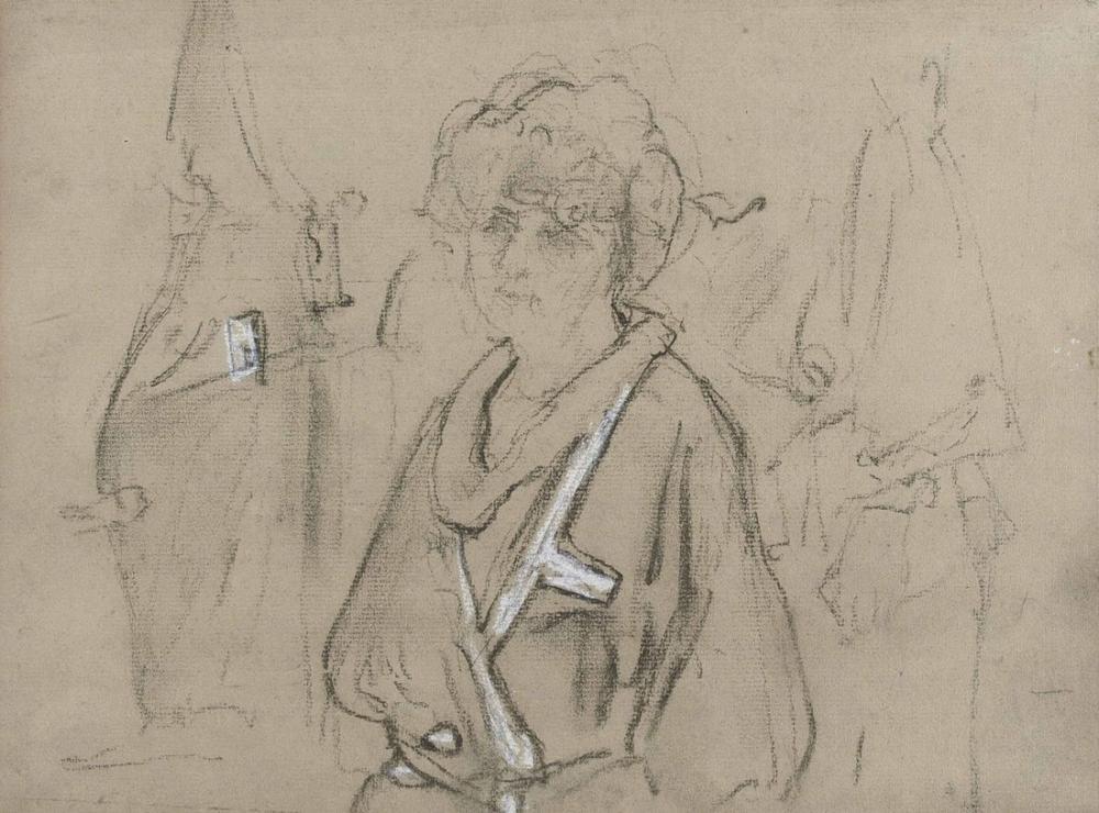 Edouard Vuillard, Bornozda Bayan Hessel ve Bahçedeki Bayan Hessel, Figür, Édouard Vuillard, kanvas tablo, canvas print sales