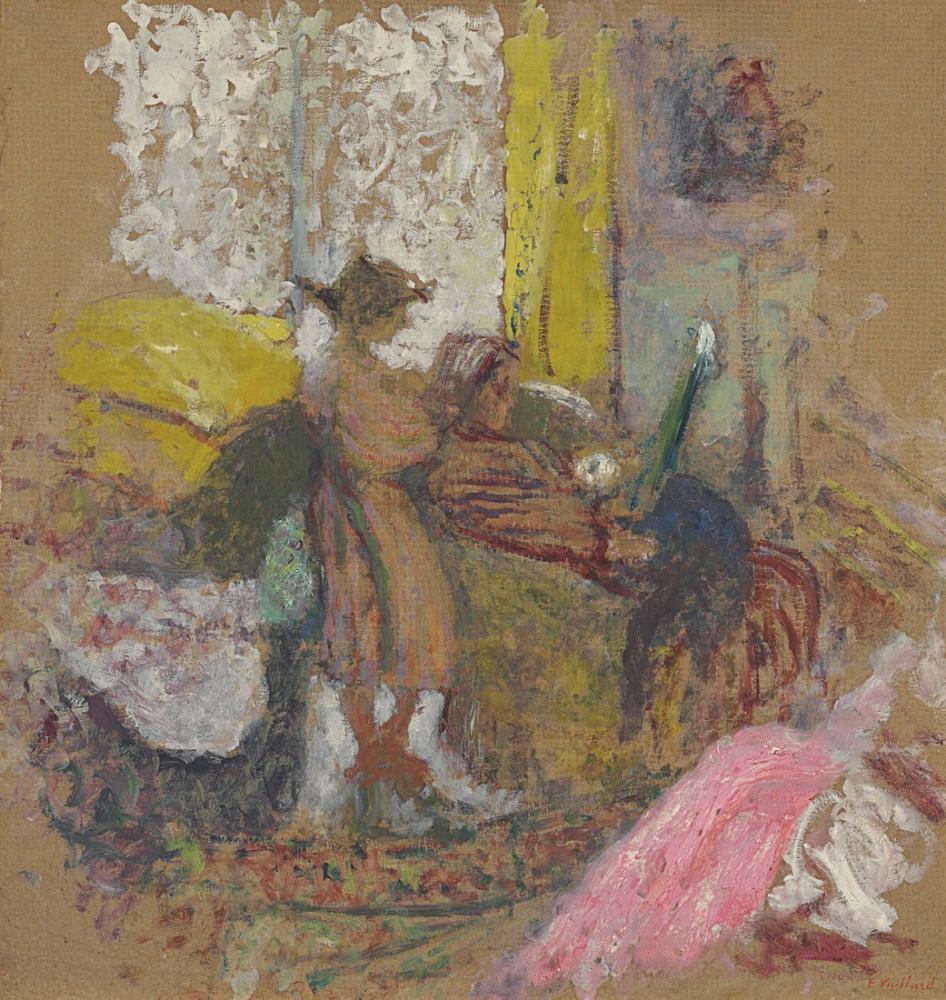 Edouard Vuillard, Annette et sa mere rue de la tour, Figure, Édouard Vuillard, kanvas tablo, canvas print sales