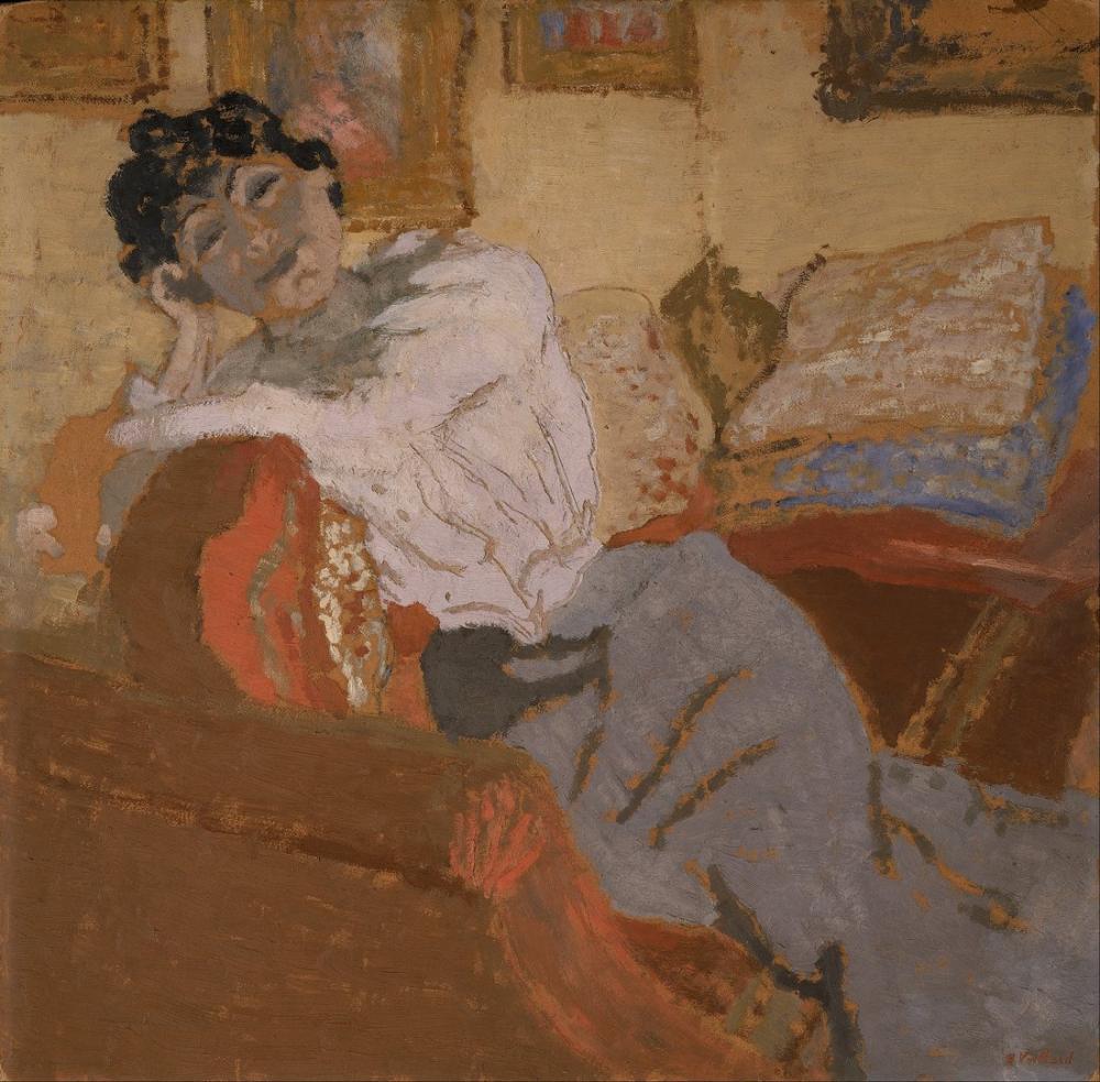 Edouard Vuillard, Kanepede Madam Hessel, Kanvas Tablo, Édouard Vuillard, kanvas tablo, canvas print sales
