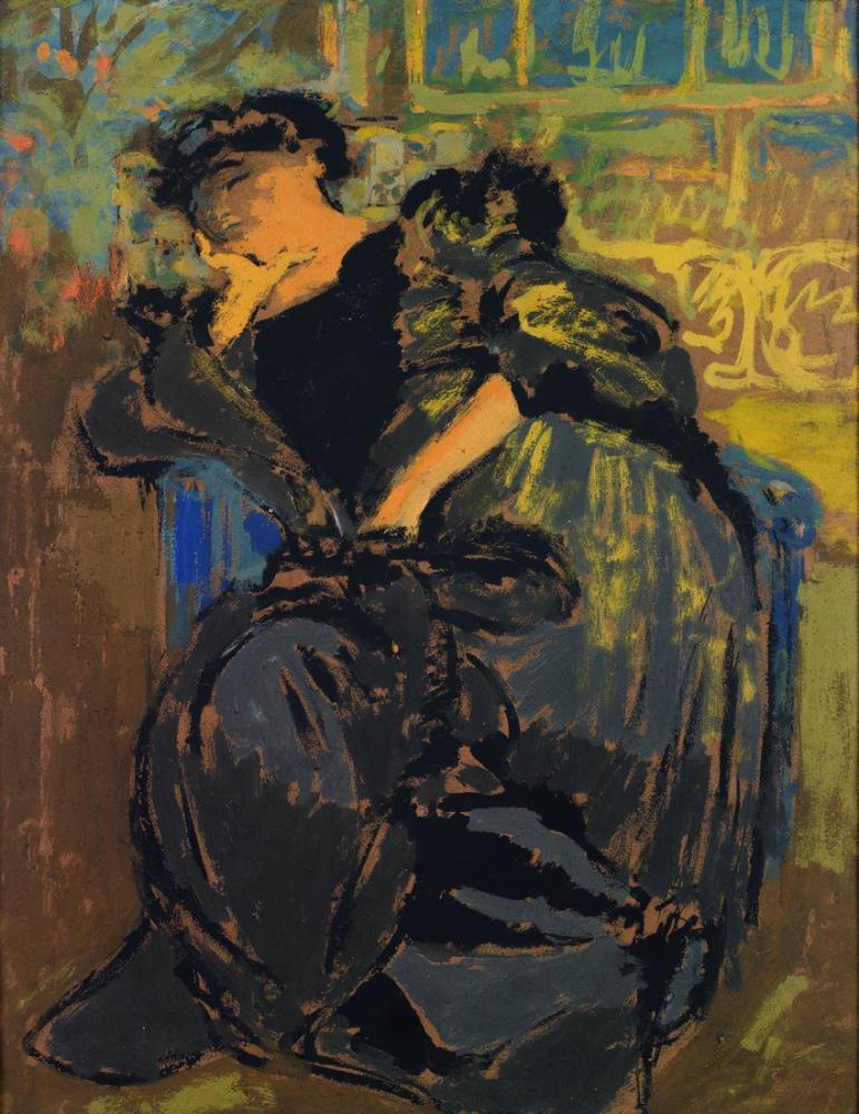 Edouard Vuillard, Madame Hessel Somnolent, Figure, Édouard Vuillard, kanvas tablo, canvas print sales