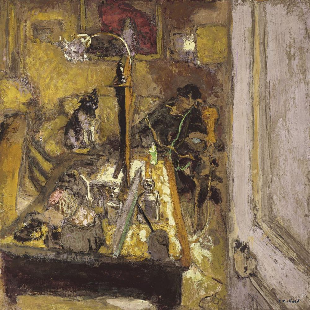 Edouard Vuillard, Madame Hessel Telephonant dans son Boudoir, Figure, Édouard Vuillard, kanvas tablo, canvas print sales